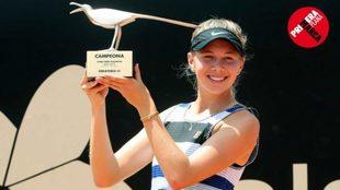 Anisimova, tras ganar en Bogotá, último torneo WTA disputado hasta...