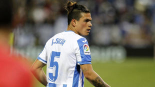 Jonathan Silva, en un partido con el Leganés.