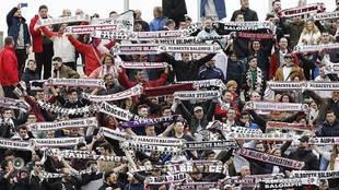 La afición del Albacete estará en El Sadar animando al segundo...