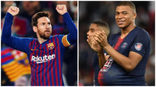 Messi and Mbappé.
