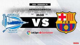 Alaves - Barcelona, hora y dónde ver por televisión el partido de...