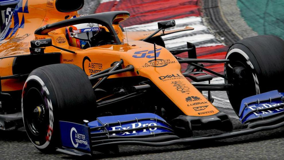 Sainz, durante el pasado Gran Premio de China.