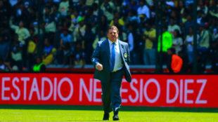 Miguel Herrera, al término del partido en el Nemesio Diez.