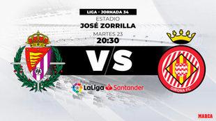 Valladolid - Girona, hora y dónde ver hoy el partido por televisión.