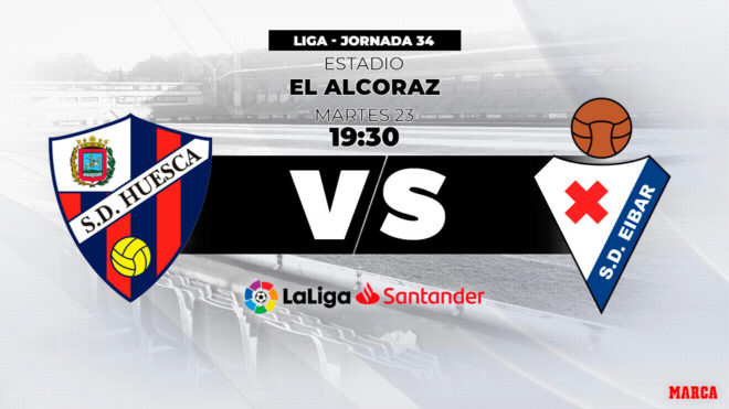 Huesca - Eibar, hora y dónde ver por televisión el partido de...