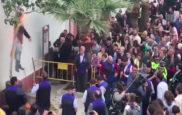 Queman y disparan a un muñeco de Puigdemont en un pueblo de Sevilla