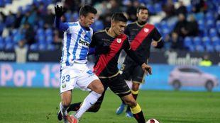 Mikel Vesga, en un partido del Leganés ante el Rayo.