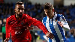 Aihen, en el partido contra el Espanyol en Anoeta.