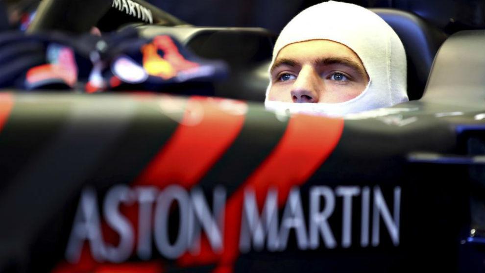 Verstappen, durante los test de pretemporada.
