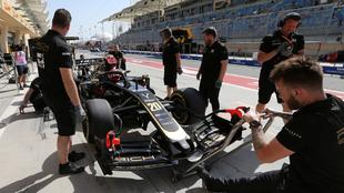 Equipo Haas durante el GP de China