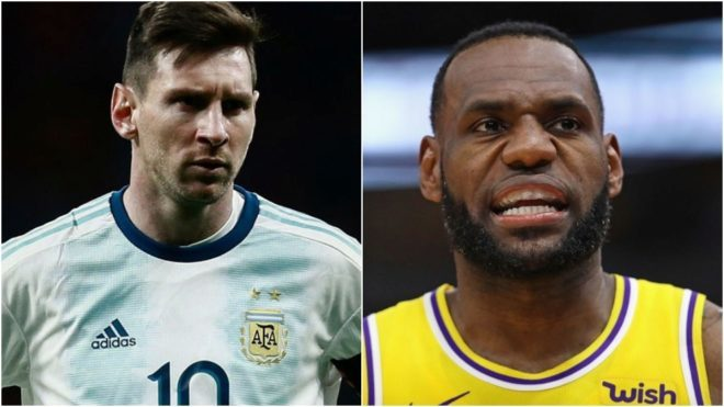 Leo Messi and Lebron James.