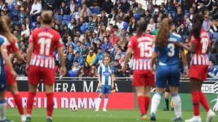 Imagen del encuentro entre el Espanyol y el Atlético.