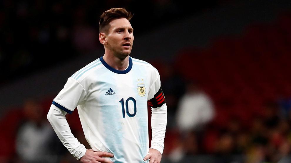 Lionel Messi durante el amistoso ante Venezuela