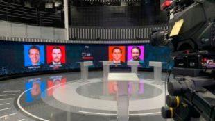 El debate electoral 2019, protagonizado por: Pablo Casado, Pedro...