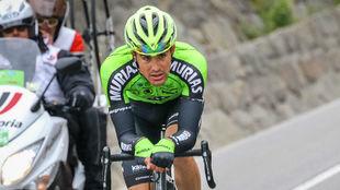 Sergio Samitier, en la etapa reina del Tour de los Alpes 2019.