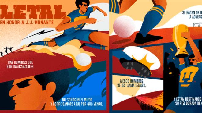 Pumas dedica una historieta a Muñante.