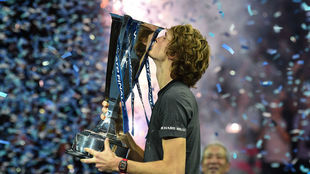 Alexander Zverev, tras ganar la final ATP en Londres