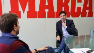 Karanka, en un momento de la entrevista en MARCA.