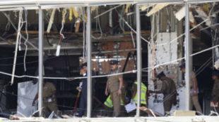 Imágenes de una de las explosiones en Sri Lanka