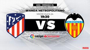 Atletico de Madrid vs Valencia - 24/04/2019 - 19:30 - Wanda...
