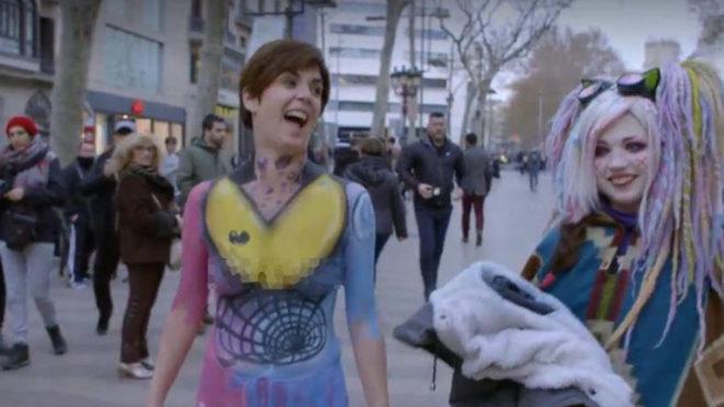 Samanta Villar Pasea Desnuda Por Barcelona Estoy En Bolas En La