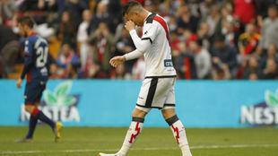 De Tomás, durante el partido contra el Huesca.