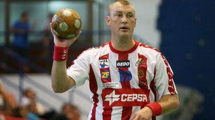 Sergey Pogorelov, en su etapa como jugador del Algeciras