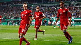 Lewandowski celebra su gol