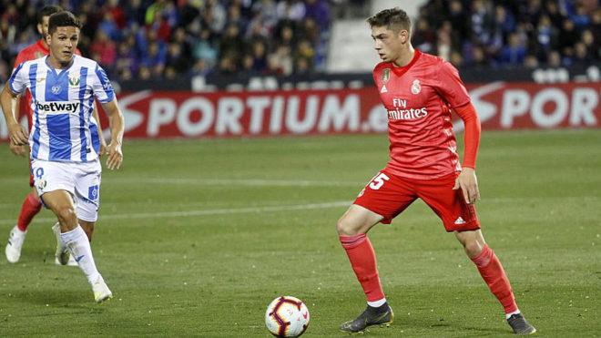 Valverde (20), en un partido ante el Leganés.