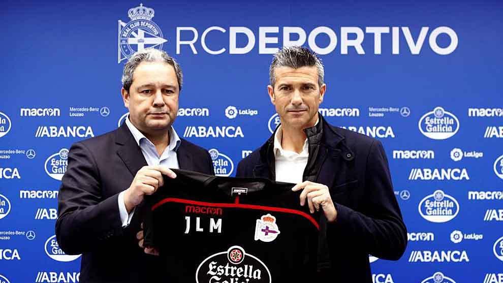 Tino Fernández, con la camiseta del Dépor, durante la reciente...