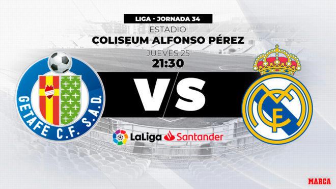 Getafe vs Real Madrid: horario y canal de TV para ver el partido de...