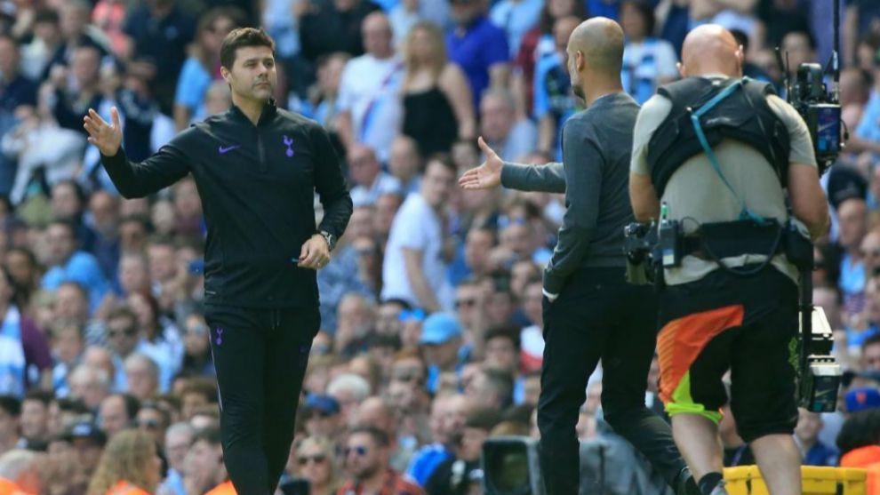 Pochettino saluda a Guardiola en su último enfrentamiento en la...