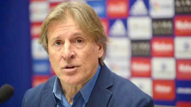 Egea, en su primera rueda de prensa con el Oviedo