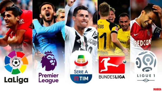 Todo lo que está en juego en las cinco grandes ligas europeas