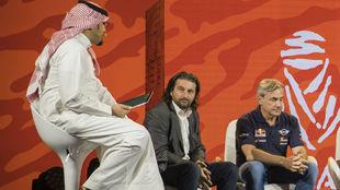 Sainz, junto a Castera, en Arabia.