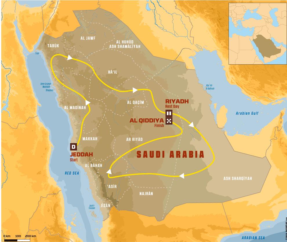 La ruta del Dakar 2020