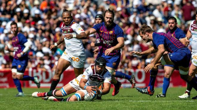 Final de la Copa del Rey de rugby entre el Sanitas Alcobendas y el Barça Rugbi.