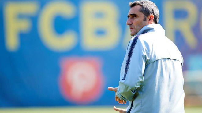 Ernesto Valverde has won two league titles with the Catalans