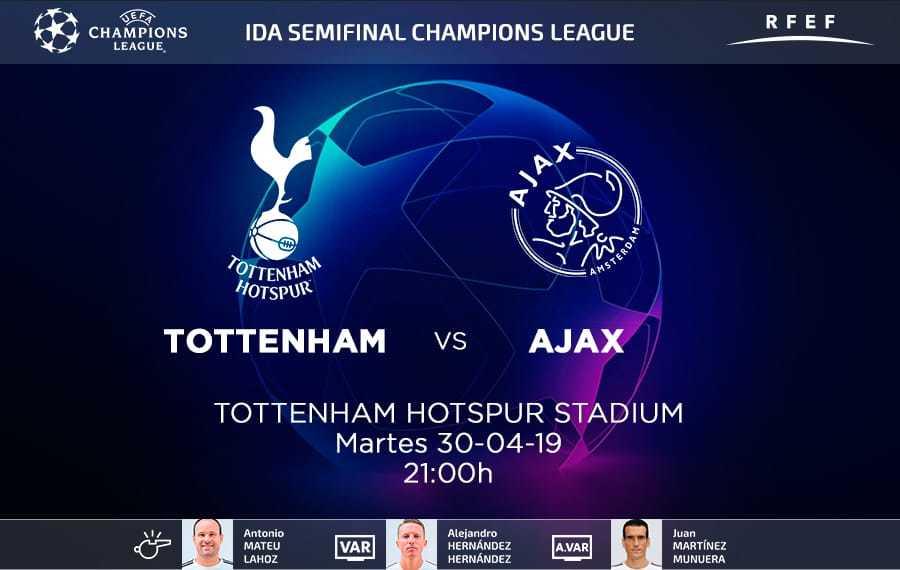 Tottenham -Ajax y Barcelona -Liverpool, por final de Champions