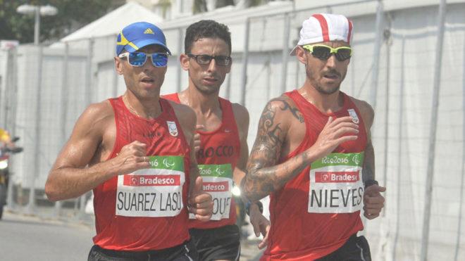 Alberto Suárez, El Amin Chentouf y Gustavo Nieves.