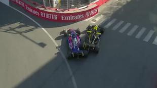 El choque entre Ricciardo y Kvyat.
