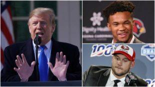 Trump felicita al número dos del draft de la NFL pero no al uno y EE.UU habla de racismo