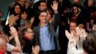 Pedro Sánchez, tras conocer los resultados de las elecciones