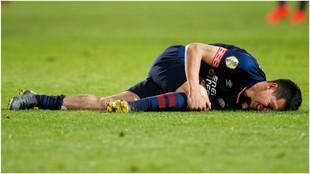 Chucky Lozano, tras la lesión que sufrió contra el Willem II.