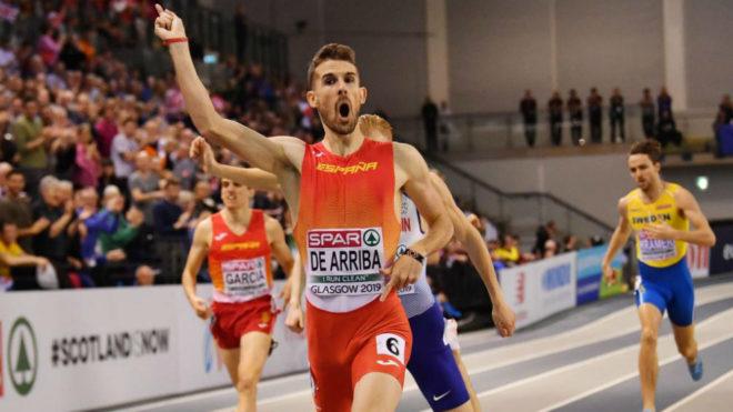Álvaro de Arriba se impone en los 800 metros del Europeo indoor de...