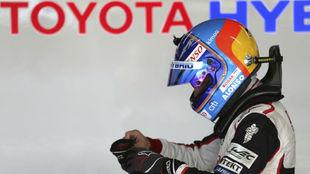 Alonso, en un test con Toyota.