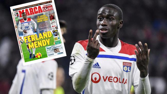 Ferland Mendy (23 años), en un partido del Lyon.