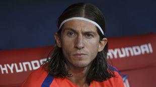 Filipe, en el banquillo.