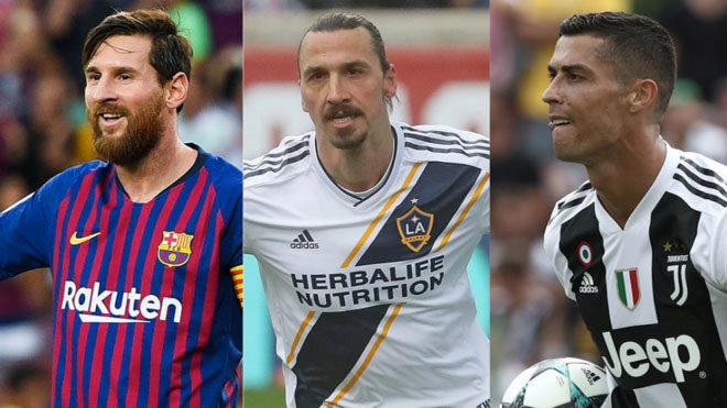 Messi, Ibrahimovic and Cristiano Ronaldo.