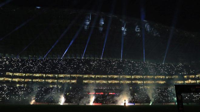 El show en el Estadio BBVA.